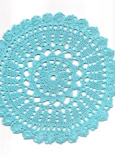Crochet doily, lace doily, table decoration, crocheted place mat, center piece,doily tablecloth, turquoise, napkin, aqua, handmade doilies