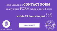 create a FORM using Google Forms by mfaheemakhtar