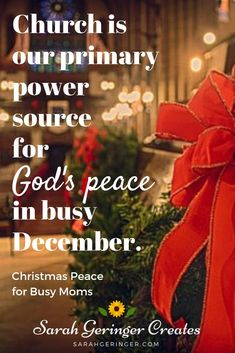 How church brings us an extra dose of peace at Christmas