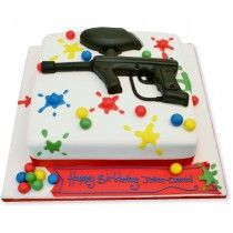 Paint Ball Cake- not to make the cake (though it's pretty cool) I just want to go paint balling. It sounds so much more fun than it actually would be I reckon.
