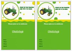 Free printable john deere tractor birthday invitation pinterest john deere free printable birthday party invitations tractor filmwisefo