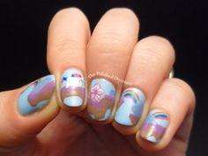 Robot unicorn attack nail art