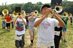 Football players aren't the only ones getting ready to hit the gridiron later in August. High school marching bands have been holding camp since early this month, practicing new tunes and routines to perform at half-time shows and band festivals.