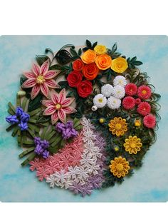 Quilled floral display.