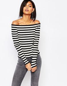 Image 1 ofVero Moda Stripe Bardot Top