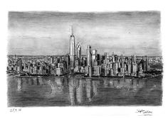 Stephen Wiltshire - Aerial view of Freedom Tower