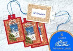 Etiquette Feliz Navidad Prêt à Imprimer Marque par LesNuitsdEncre