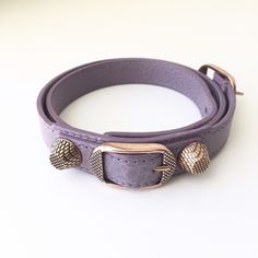 """Balenciaga Glycine Giant Rose Gold Bracelet Like new! Rose gold plated metal hardware / Buckle closure / Made in Italy / 23.5"""" W x 1"""" H x 0.5"""" D / Material: Soft vintage crafted lambskin Balenciaga Jewelry Bracelets"""