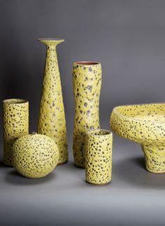 Josh Herman Ceramics    Chartreuse Groupings