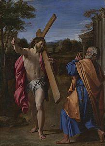 Domine, Quo Vadis? (1602), de Annibale Carracci, National Gallery de Londres