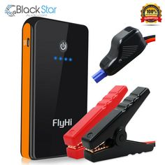 FlyHi Peak Portable Car Jump Starter Power Bank(Up to L Gas Engine) with Powerful USB Charging Port Built-in LED Flashlight and Smart Battery Clamp Cable Battery Clamp, Portable Charger, Led Flashlight, Car Accessories, Cable, Engineering, Usb, Ebay, Tech