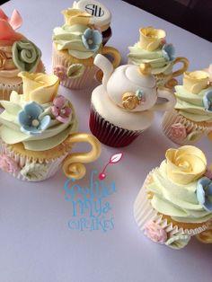 High Tea Cupcakes, deze zijn echt mooi gemaakt.