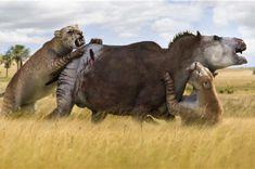 le faux hippopotame - cénozoic park:L'Age des mammifères