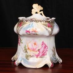 Porcelain Biscuit Jar, RS Prussia