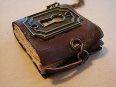 Art by Wendy: Mini Book Necklaces and Keychains Tutorial