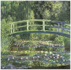 Water Lilies and the Japanese Bridge by Claude Monet