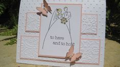 To Have and To Hold, gold or silver or  wedding colors, smaller butterflies