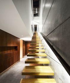 Modern space #wood #modern #contemporary #stairs #https://www.facebook.com/ThreeLittlePigsColourAndDesign