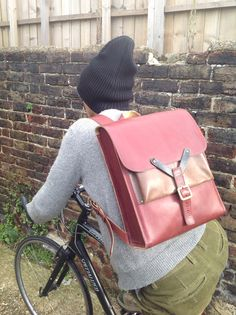 Leather hunting rucksack by wolfram Lohr