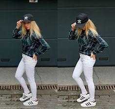 Karolina Żurawska - Adidas Cap, Pull & Bear Checkered One, Pull & Bear Aren't These From Snow Queen?, Adidas Superstar - We like adidas, don't we?