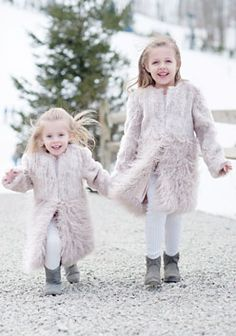 Childrens Chinchilla Faux Fur Hooded Parka Donna Salyers' Fabulous ...