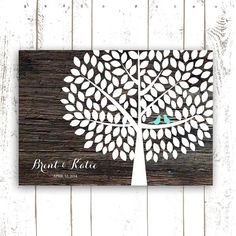 Guest Book Tree Unique Guestbook Alternative by MooseberryPaperCo