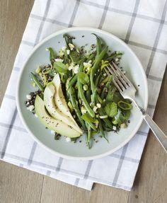 Avocado, green bean, and quinoa salad.