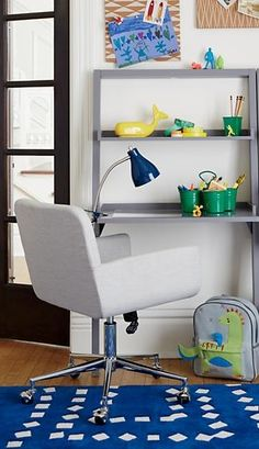 When homework time rolls around, you want a desk chair that'll be ready for anything. Luckily, our Mid-Level Desk Chair features a padded seat that provides the perfect comfort and support. And the adjustable height feature means it can grow side-by-side with your little ones, extending its life even more.
