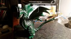 custom mini leather dragon for Ashley by artchik101 on Etsy