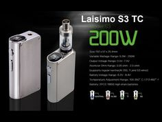 Vapor Joes - Daily Vaping Deals: USA BLOWOUT: THE LAISIMO S3 200 WATT / TC BOX MOD ...