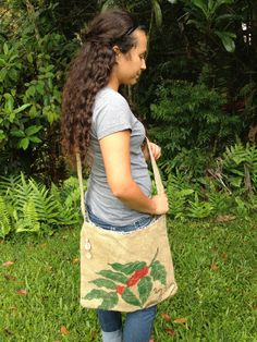 Burlap Kona Coffee Large Messenger Bag