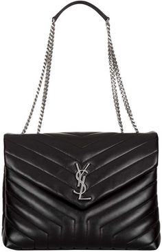 a6f149249659 Saint Laurent Small Matelassé Loulou Shoulder Bag