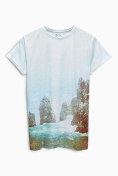 T-Shirt mit Fotodruck  65 % Polyester, 35 % Baumwolle.  ...