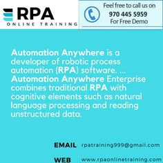 #what is #Automation #Anywhere ? want to #learn #robotic #process #automation rpaonlinetraining is the best choice  visit www.rpaonlinetraining.com