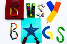 Lots of Busy Bag Ideas: magnet rainbows, stoplight game, color wheels & more