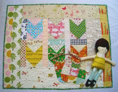 Bright Quilt, Doll & Bibs Set