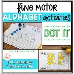 Alphabet Activities - Fine Motor Fun! DOT IT alphabet activities are a fun way for kids to practice fine motor skills, hand-eye coordination, and proper alphabet letter formation. There are 2 versions included in this resource to help you best meet the needs of your