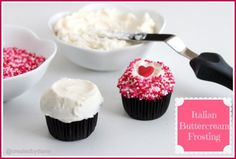 "Italian Buttercream Frosting. ""I LOVE this frosting! It's so wonderfully rich and creamy."""