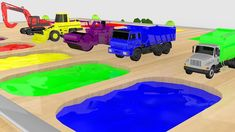 Learn Colors with Construction Vehicles for Kids Dump Truck Excavator Road Roller Dump Truck, Love Car, Learning Colors, Thinking Skills, Toy Trucks, Sandbox, Young Boys, New Toys, Motor Skills