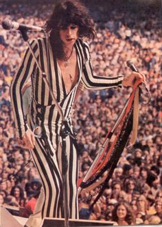 Steven Tyler- He sings, writes his own music, and plays piano, guitar, harmonica, and drums.  Doesn't get much more talented than that!  I'm about to see him in concert for the 5th time for my daddy's birthday, December 13!