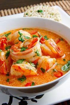 Coconut Curry Spicy Shrimp!! #yummy #goodstuff #shrimp #soup