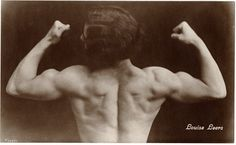 Nice back...maybe I need to become a trapeze artist! Louise Leers - Strongwoman