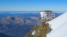 Mont Blanc addition - Refuge du Gouter - Opening in 2013 Steel Cladding, Metal Structure, Art And Architecture, Refuge, Alps, Design, Mountain, Tech, Inspired