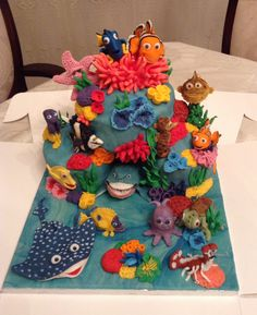 Finding Nemo cake from Cakes By Nicky