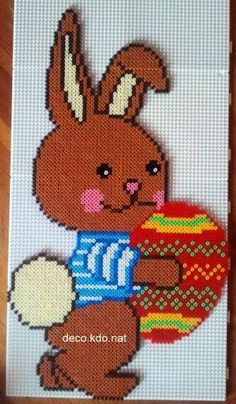 Easter bunny hama perler beads by DECO.KDO.NAT