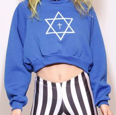 Trippy Crop Sweat Shirt http://shop.nylonmag.com/collections/whats-new/products/trippy-crop-sweat-shirt