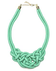 GODDESS | Knotted Necklace in Blue - Women - Style36 Knot Necklace, Crochet Necklace, Summer Trends, Personal Style, Fashion Jewelry, Bracelets, Pattern, Blue, Ideas