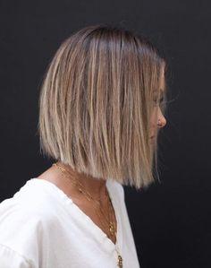 Bob Haircut For Fine Hair, Bob Hairstyles For Fine Hair, Short Bob Haircuts, Hairstyles 2018, Haircut Bob, Simple Hairstyles, Haircut Styles, Modern Haircuts, Short Blunt Haircut