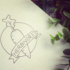Herbivore Tattoo | American Traditional | Flash Tattoo