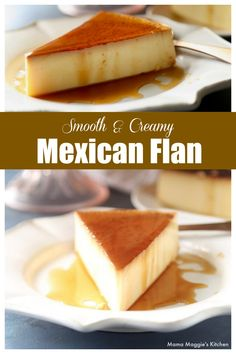 You're going to LOVE this Mexican Flan recipe! So smooth and so creamy. and that caramel sauce is to die for! This authentic Mexican Dessert is perfect for Cinco de Mayo or any day of the week. By Mama Maggie's Kitchen Authentic Mexican Desserts, Mexican Dessert Recipes, Dinner Recipes, Drink Recipes, Mexican Pastries, Mexican Sweet Breads, Mexican Flan, Mexican Dishes, Ceviche Mexican